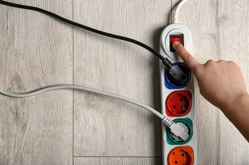 Electrical Extension Cord being turned off