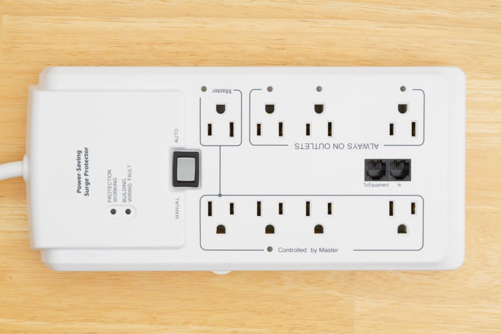 Power surge protector to protect against lightning damage